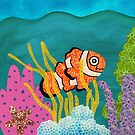 Clownfish Duvet  by Janet Antepara