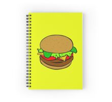 Hamburger- tomatoes, lettuce, cheese Spiral Notebook