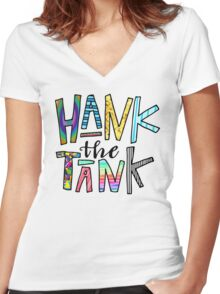 HANK the TANK! Women's Fitted V-Neck T-Shirt