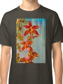 Orange against Blue Orchid Classic T-Shirt