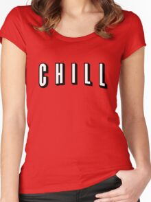 Netflix & Chill Women's Fitted Scoop T-Shirt