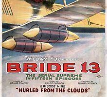 Vintage Thriller Biplane Bride 13 Silent Movie by pdgraphics