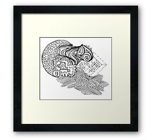 Mixed Puzzle Pieces  Framed Print