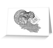 Mixed Puzzle Pieces  Greeting Card