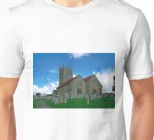 St Mary's Church, Carisbrooke  Unisex T-Shirt