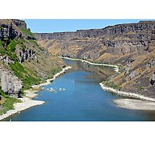 Blue river in canyon Photographic Print