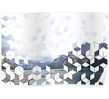 Geometric Mountains Poster