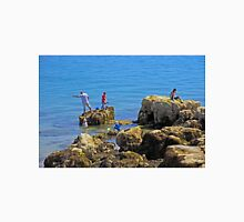 Fishing from the Rocks, Seaview Unisex T-Shirt