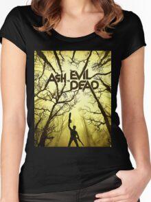 ASH vs EVIL DEAD Women's Fitted Scoop T-Shirt