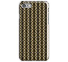 British-style black and tan amplifier grill cloth iPhone Case/Skin