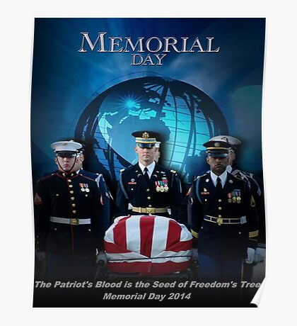 Memorial Day - Patroit's Blood Poster