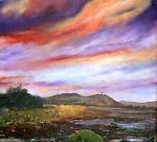 Strangford Impression (view from Island Hill) by Les Sharpe