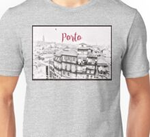 Porto Sketch Skyline Unisex T-Shirt