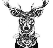 Floral Deer by Joshuagh7