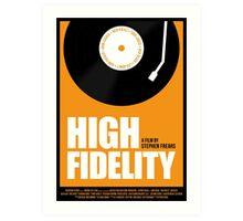 High Fidelity film poster Art Print