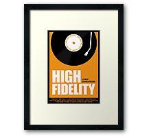 High Fidelity film poster Framed Print