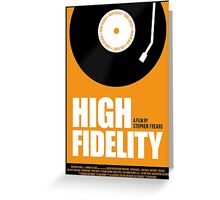 High Fidelity film poster Greeting Card