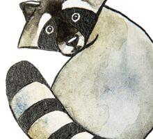 Cute watercolor racoon Sticker