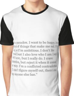 I'm a paradox - quote Graphic T-Shirt