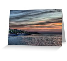 Sunset on Cromer Cliffs Greeting Card