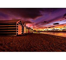 Brighton Beach Bathing Boxes Photographic Print