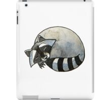 Cute watercolor sleeping raccoon iPad Case/Skin