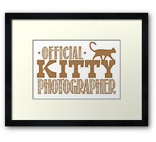 Official KITTY photographer Framed Print