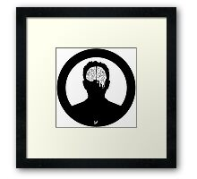 Our brains are sick  Framed Print