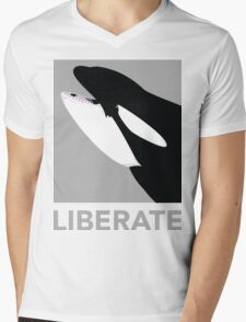 Liberate (Orca) Mens V-Neck T-Shirt