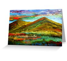 Mourne Abstract 1 Greeting Card
