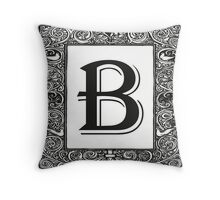 Vintage Monogram | Letter B Throw Pillow