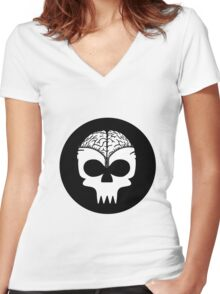 Zip Up Women's Fitted V-Neck T-Shirt