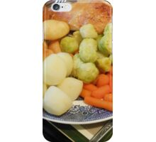 Roast Chicken with Vegetables iPhone Case/Skin