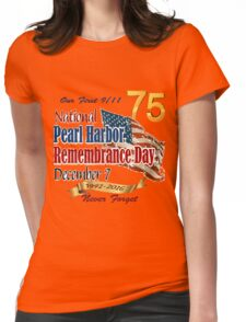 Pearl Harbor Day 75th Anniversary Logo Womens Fitted T-Shirt