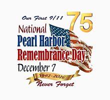 Pearl Harbor Day 75th Anniversary Logo Unisex T-Shirt