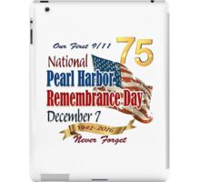 Pearl Harbor Day 75th Anniversary Logo iPad Case/Skin