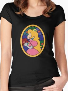 Princess Peach Stained Glass Women's Fitted Scoop T-Shirt