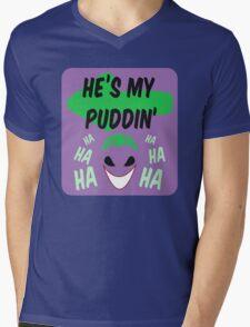 He's my puddin Mens V-Neck T-Shirt