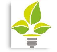 Eco Lightbulb Canvas Print
