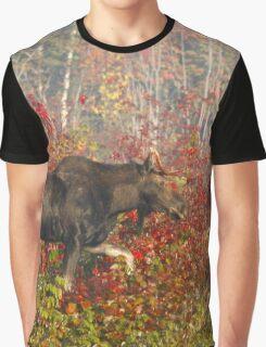 Maine Bull Moose  Graphic T-Shirt