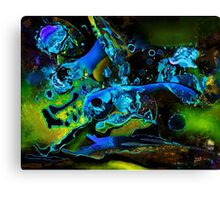 green and blue scenery Canvas Print