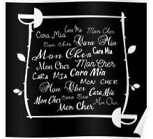 Cara Mia Mon Cher Poster