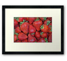 Fresh red strawberries Framed Print