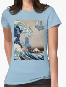 Mudkip Wave Womens Fitted T-Shirt