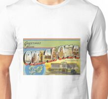 Vintage Colorful Greetings From Oklahoma Unisex T-Shirt