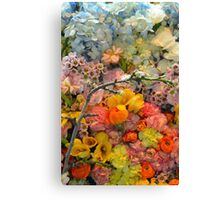 Colorful spring blossoms Canvas Print