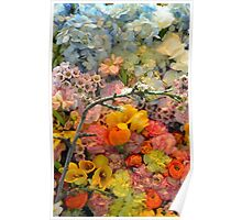 Colorful spring blossoms Poster