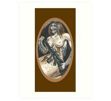 Mermaid with Rifle Art Print