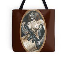 Mermaid with Rifle Tote Bag