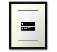 Undertale: Papyrus design Framed Print